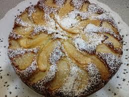 Torta di mele con zucchero a  velo