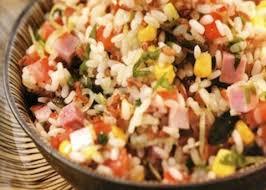 Insalata di riso prosciutto e mais