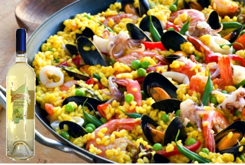 Ricetta paella di pesce senza pomodoro