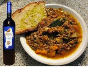 Zuppa di lenticchie e verza